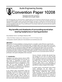 AES Convention Papers Forum » Key Benefits and Drawbacks of