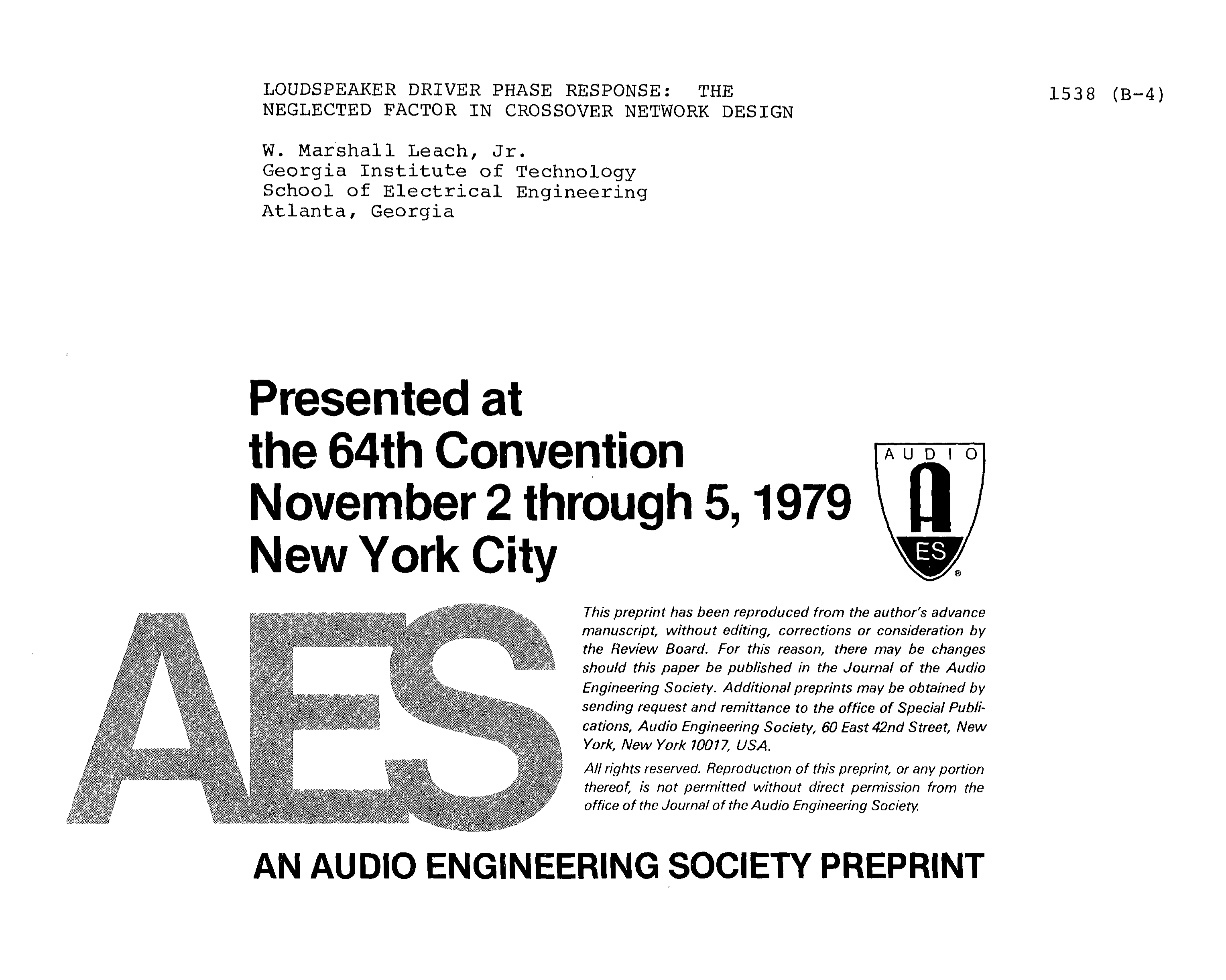Aes E Library Loudspeaker Driver Phase Response The Neglected Subwoofer Filter Crossover 11 90 Hz Frequency Circuit Free Picture Factor In Network Design
