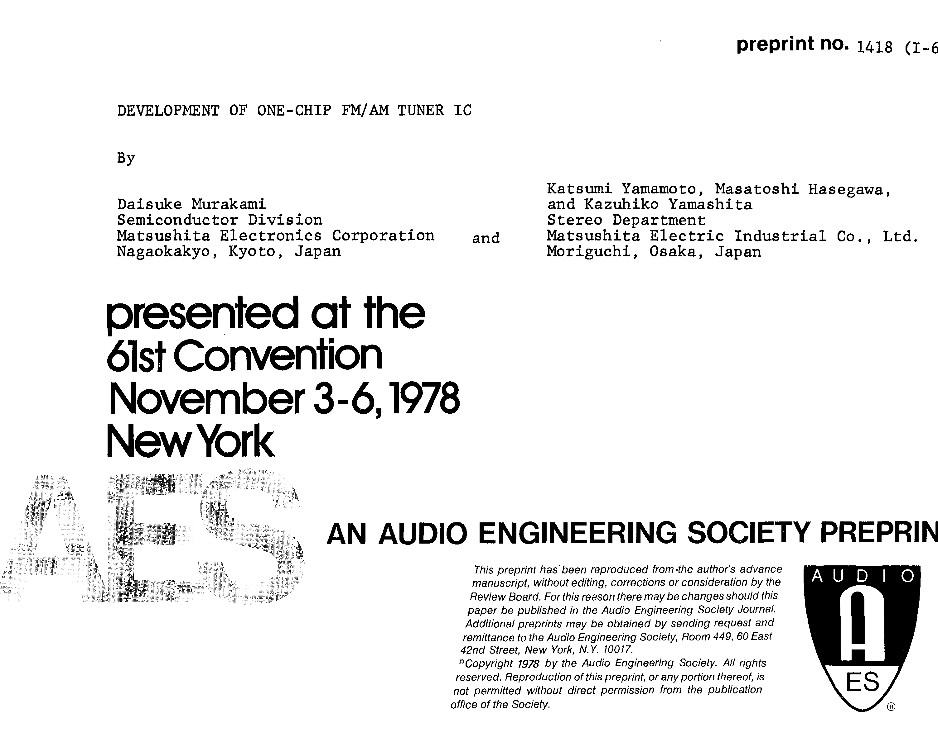 Aes E Library Development Of One Chip Fm Am Tuner Ic Figure 1 Electronic Load Circuit Constant Current Ccoperation