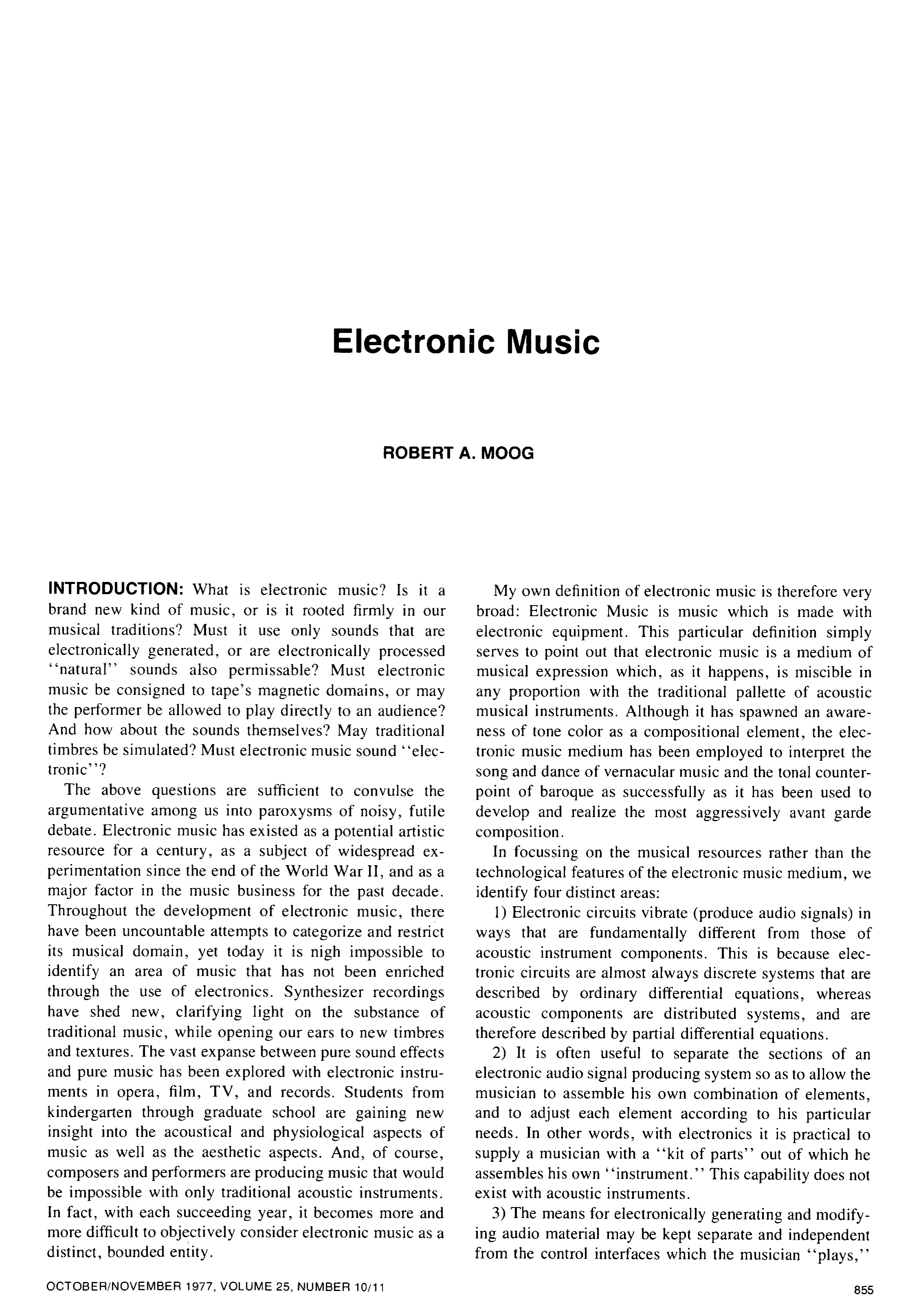 AES E-Library » Electronic Music