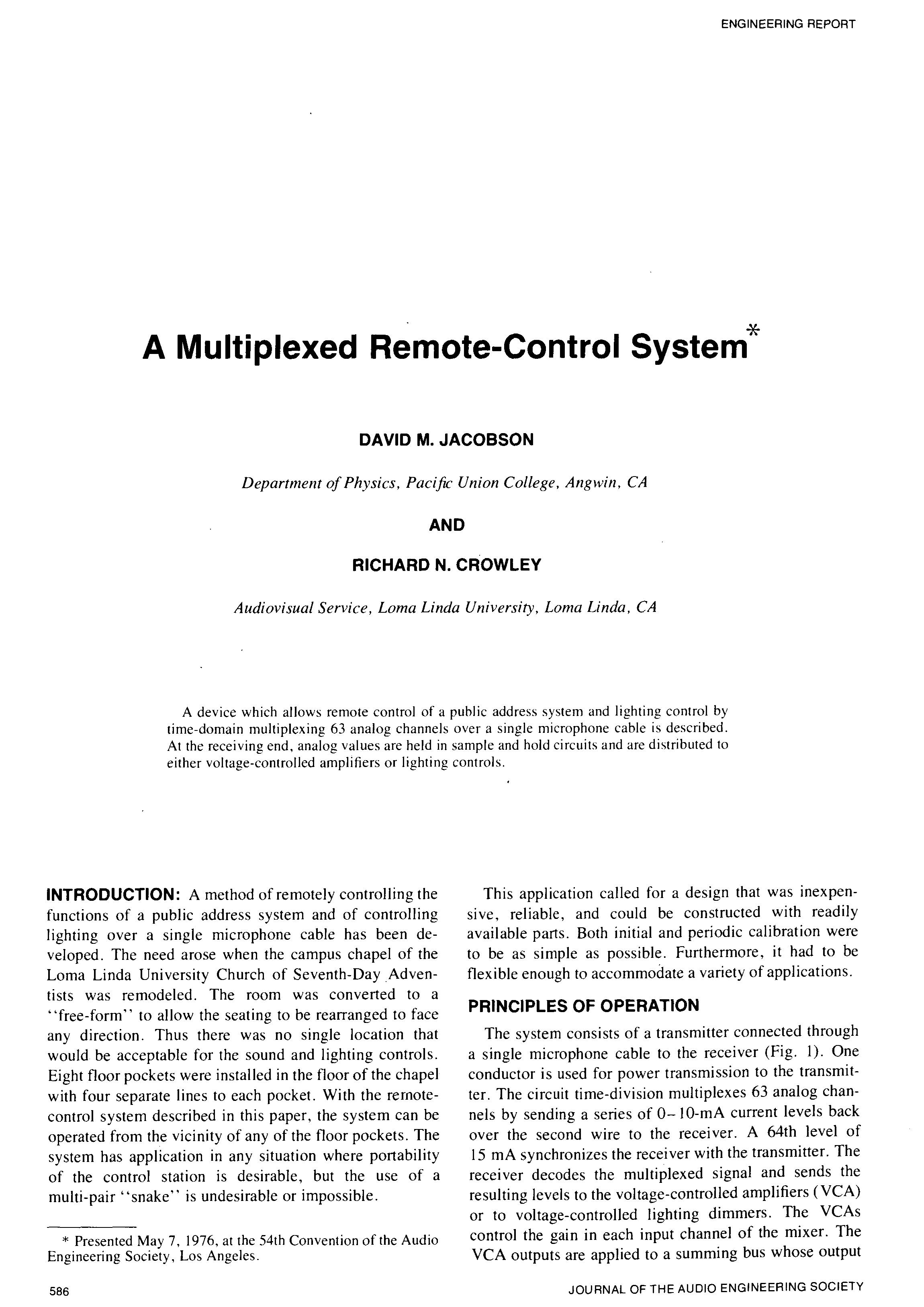 Aes E Library A Multiplexed Remote Control System This Circuit Is Referred To As Dominant On Latching