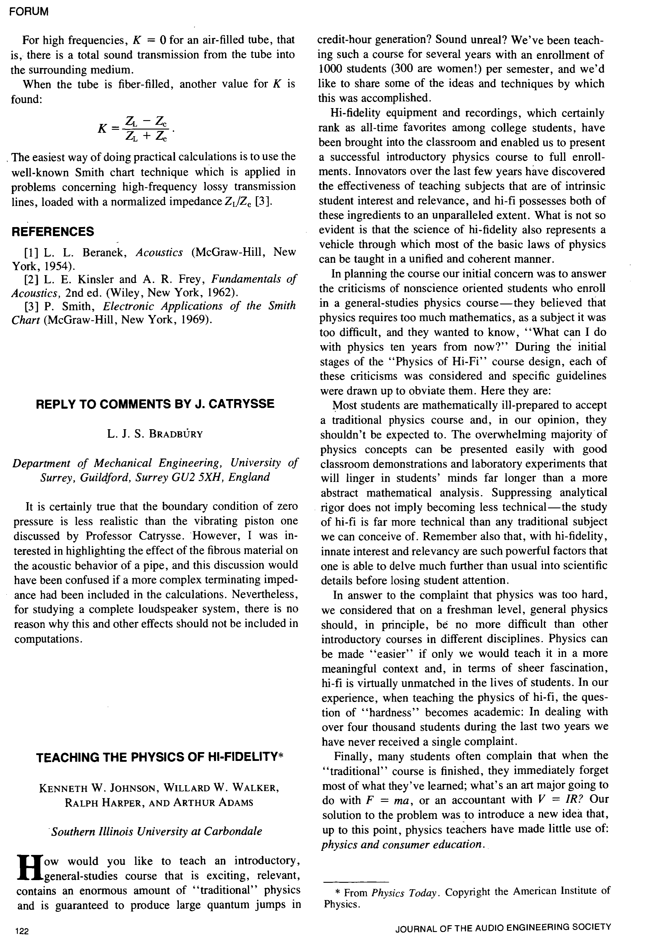 AES E-Library » Teaching the Physics of Hi-Fidelity