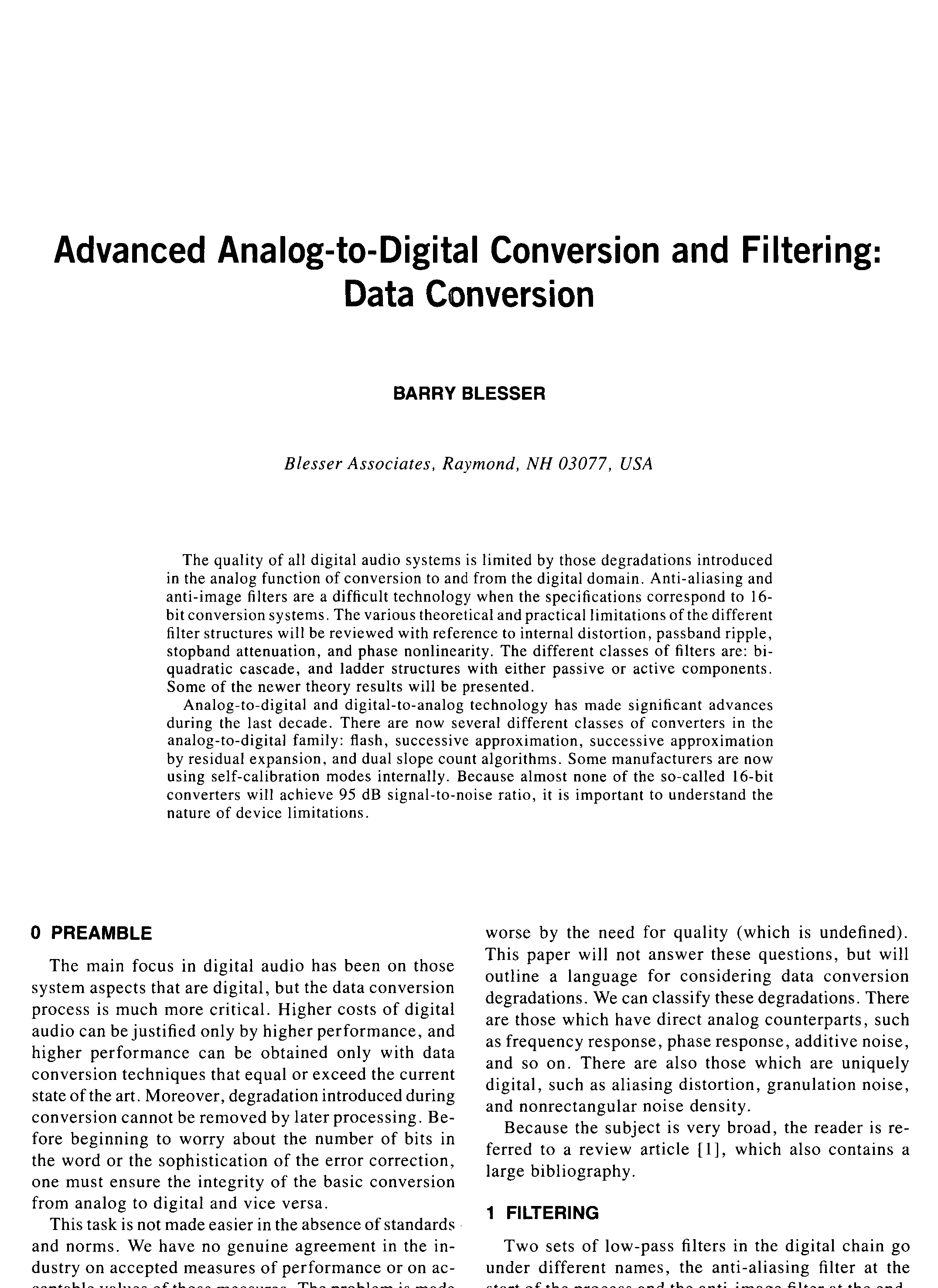 Aes E Library Advanced Analog To Digital Conversion And Filtering Process Flow Diagram Filter Symbol Data