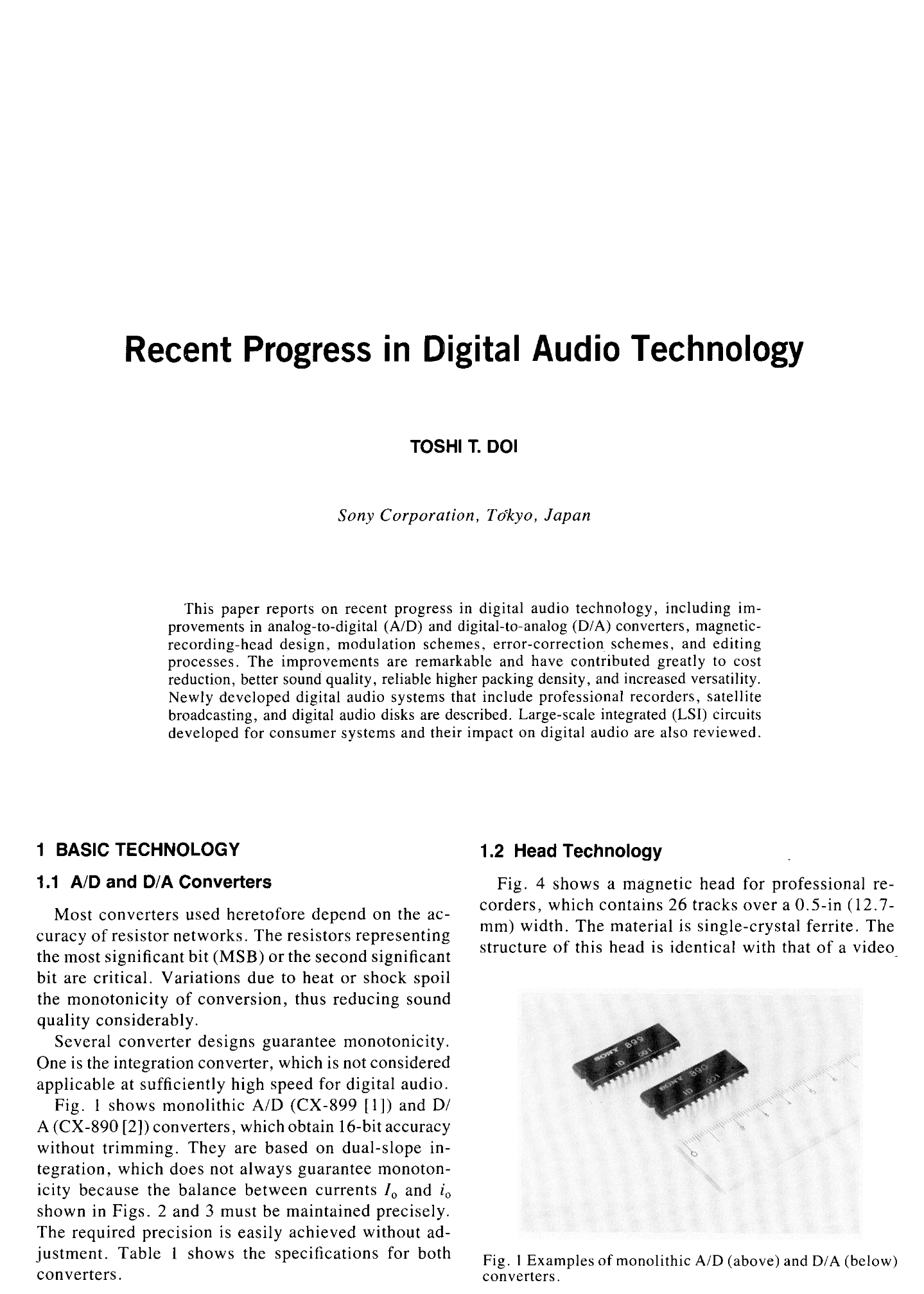 Aes E Library Recent Progress In Digital Audio Technology Figure 1 Schematic Of The Simple 4channel Onoff Remote Control
