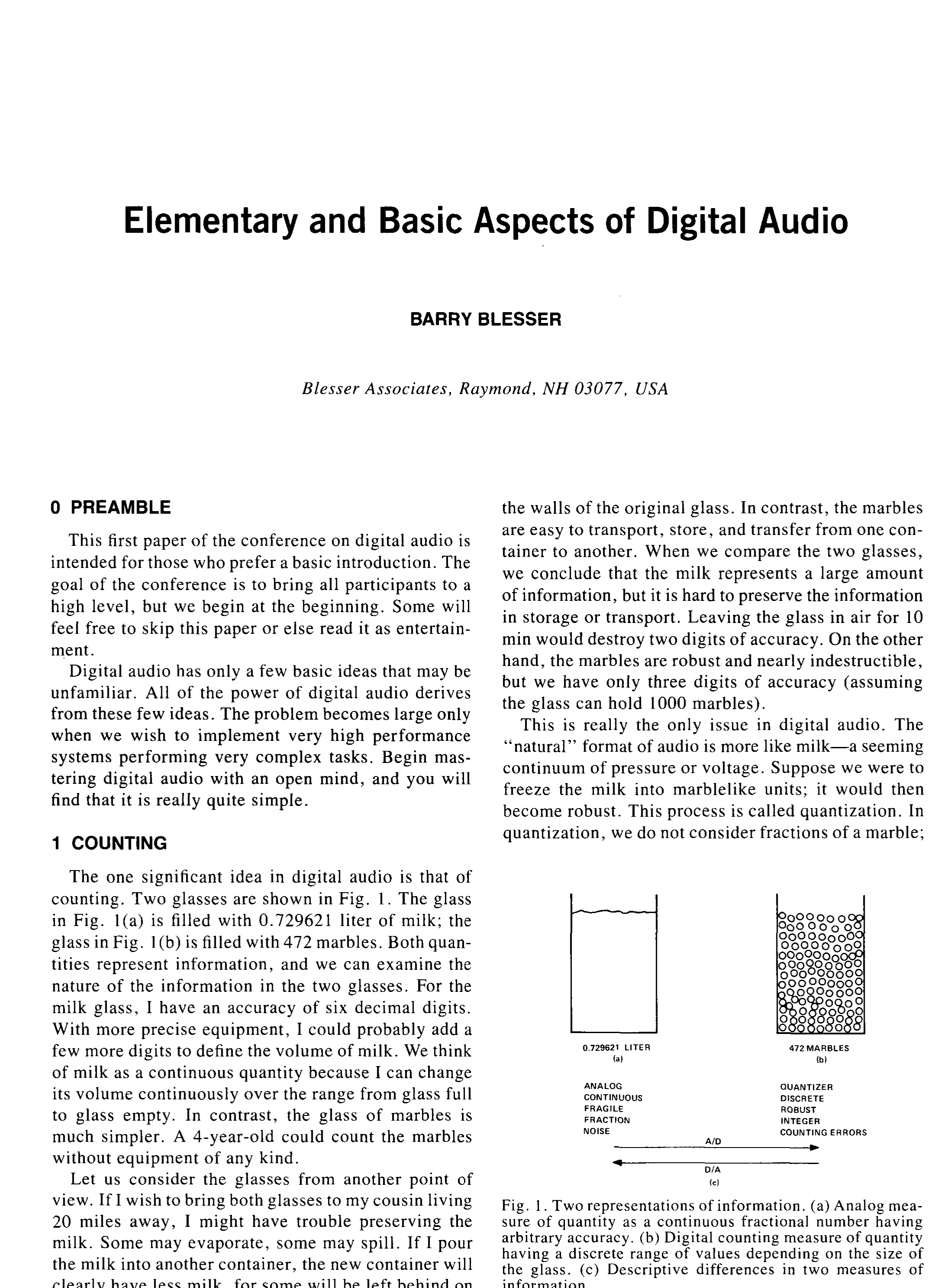 Aes E Library Elementary And Basic Aspects Of Digital Audio Octal High Speed A D Converters