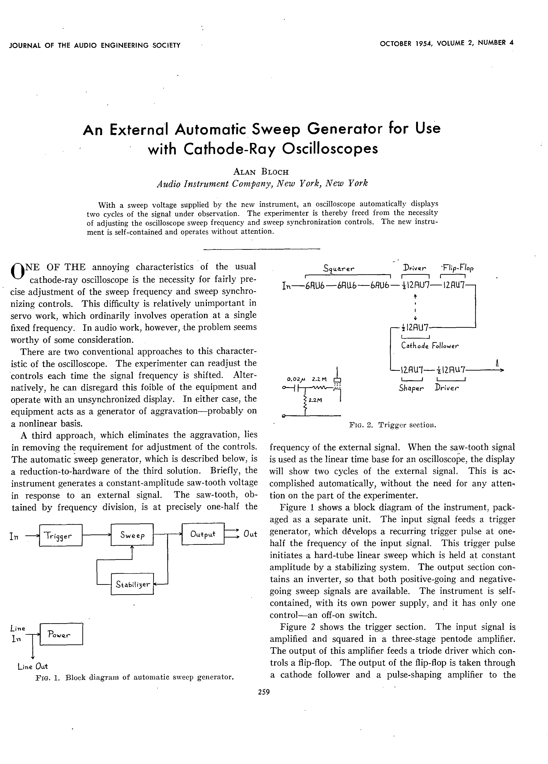 AES E-Library » An External Automatic Sweep Generator for Use with