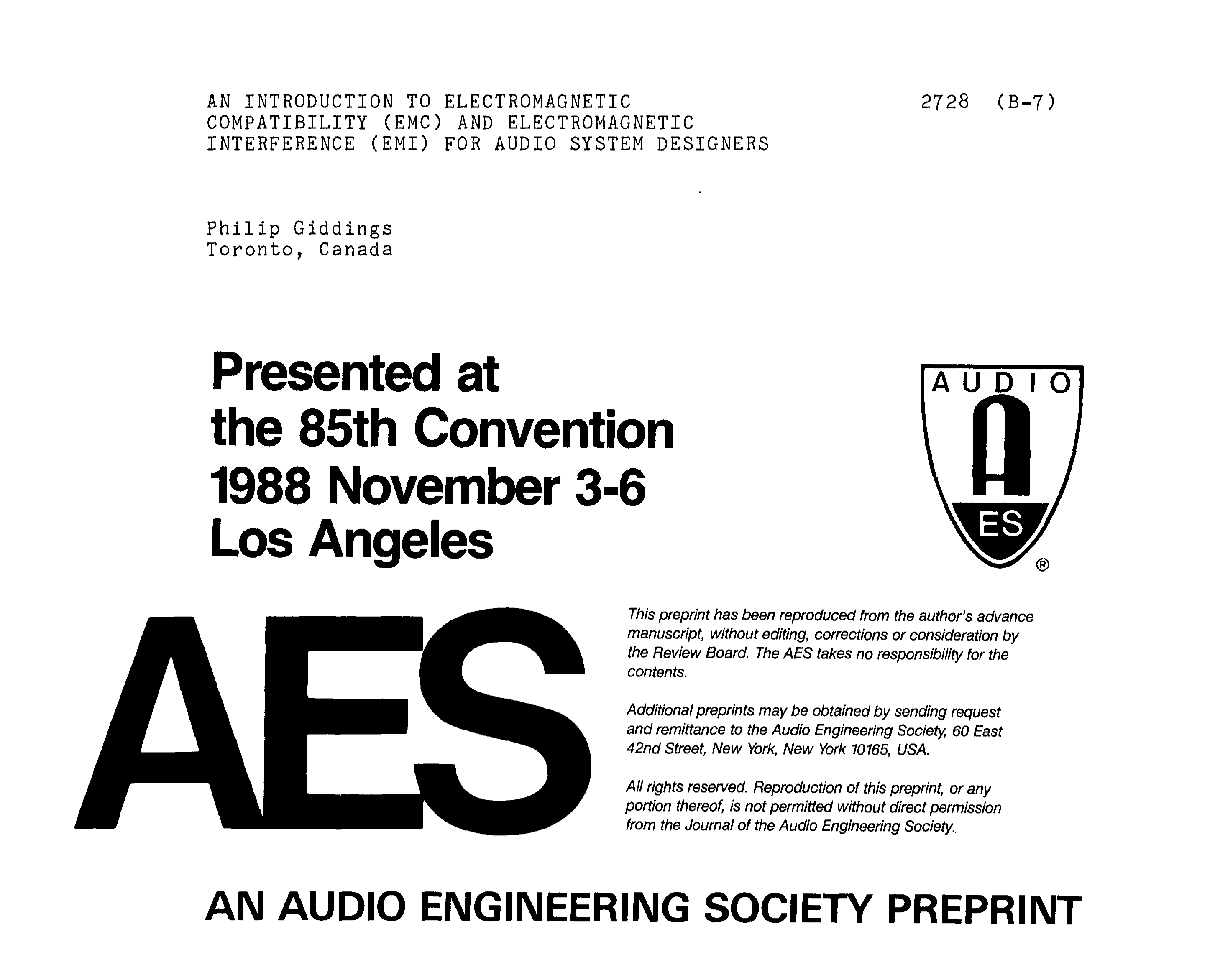 aes e library an introduction to electromagnetic compatibility rh aes org Study Materials study guide for electromagnetic compatibility engineering (scee press)