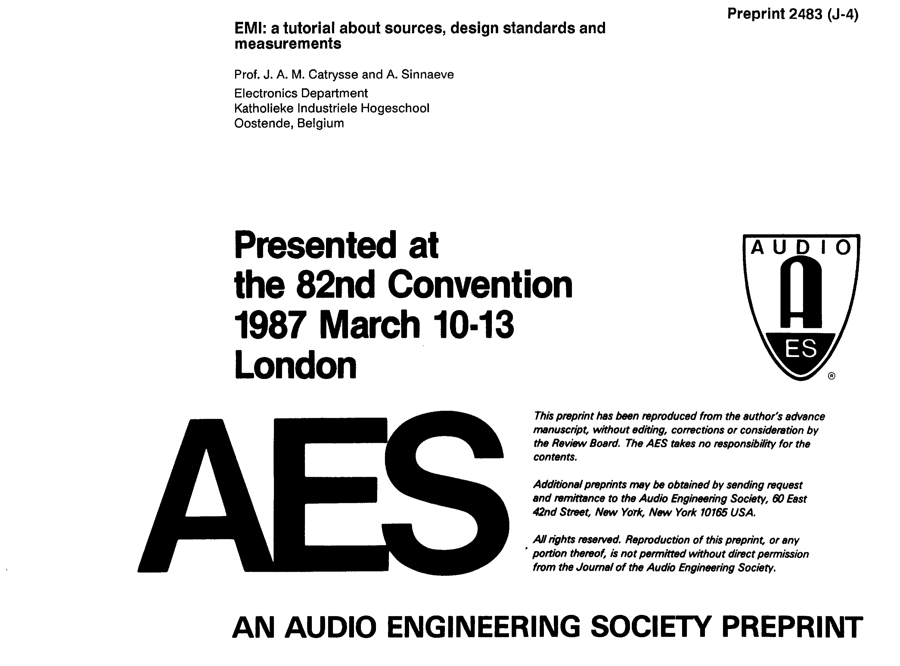 Aes e library emi a tutorial about sources design standards and aes e library emi a tutorial about sources design standards and measurements ccuart Images