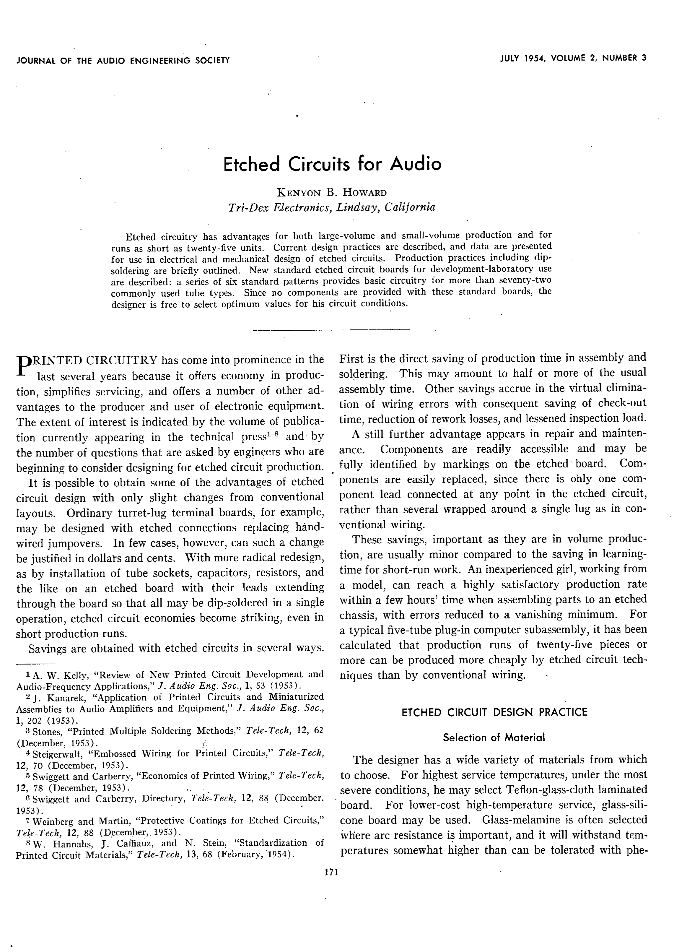 Aes E Library Etched Circuits For Audio How To Repair A Broken Printed Circuit Board Thumbnail