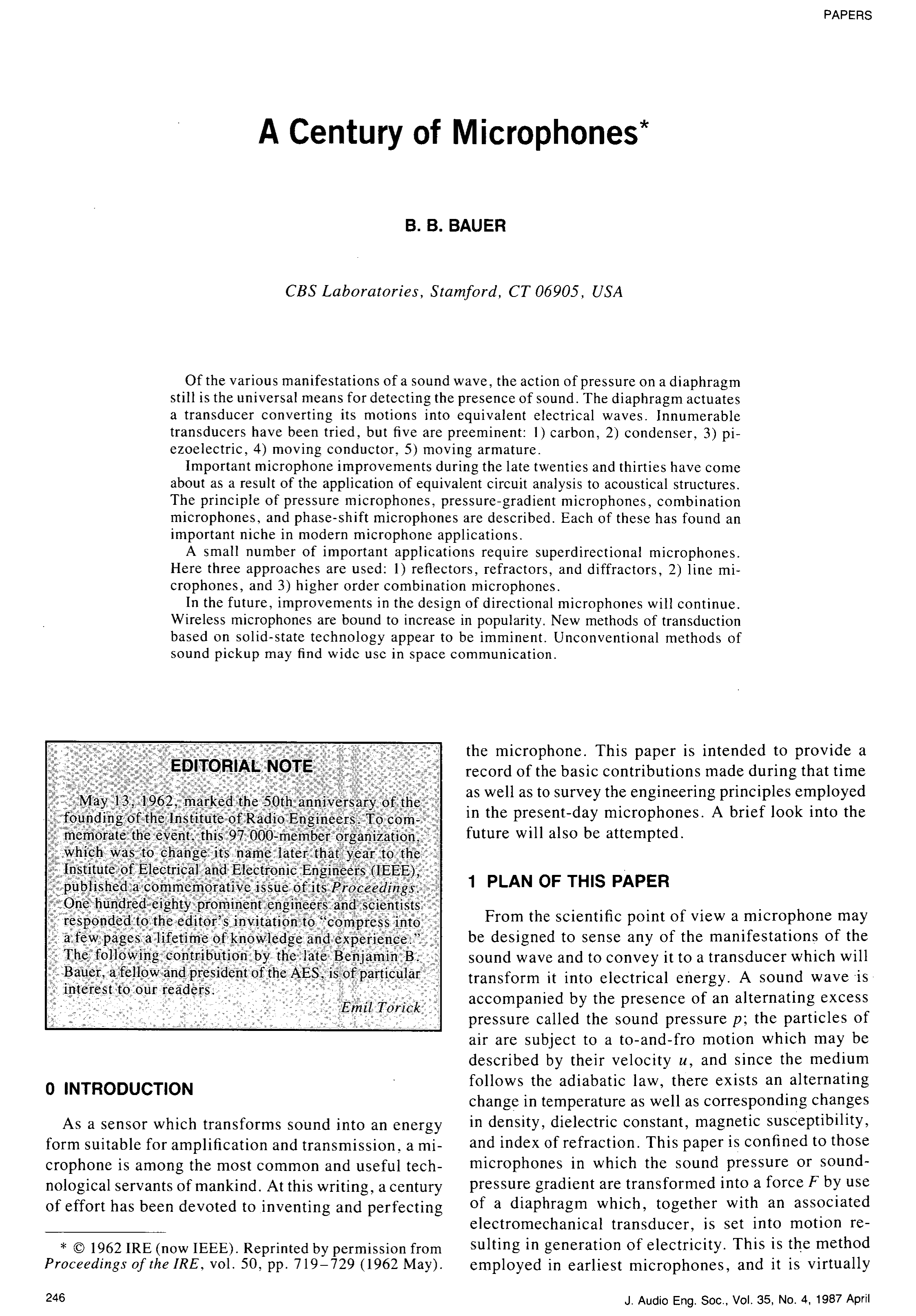 Aes E Library A Century Of Microphones Bell Labs Integrated Circuit Work Examples Ea