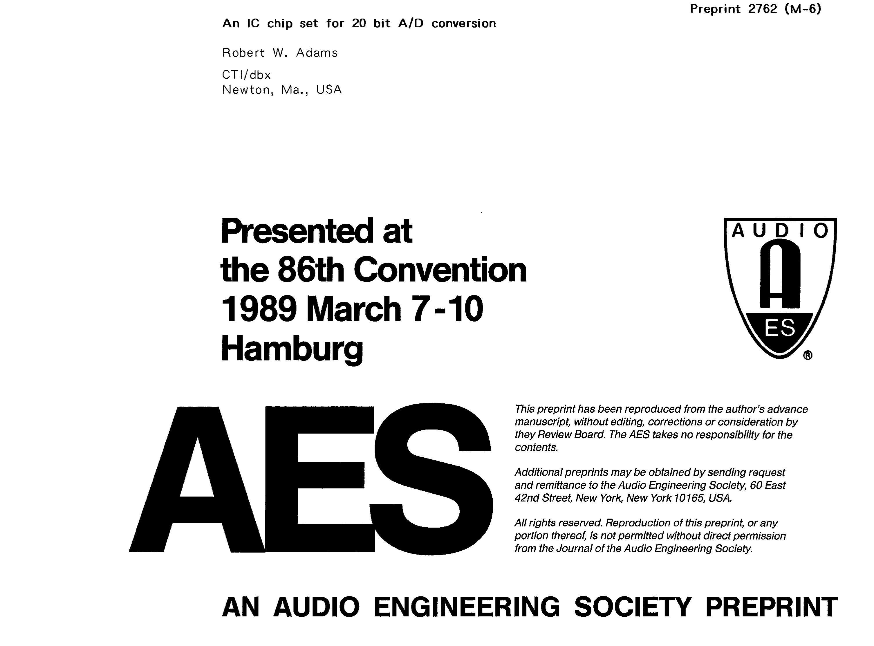 Aes E Library An Ic Chip Set For 20 Bit A D Conversion Highlow Level Comparator With One Op Amp Circuit Diagram