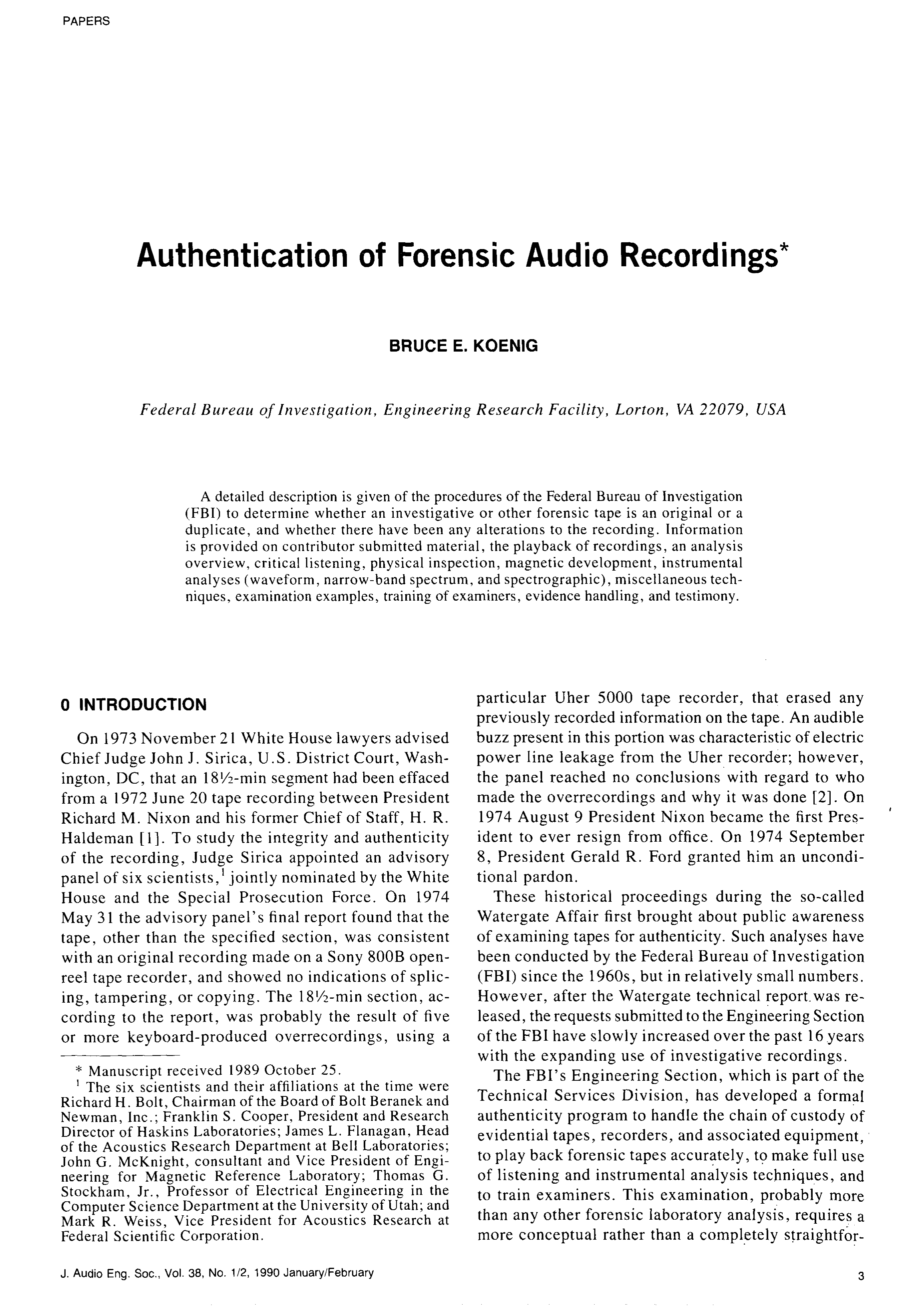 Aes E Library Authentication Of Forensic Audio Recordings The Wiring For This Is Pretty Straightforward Some Items Xm