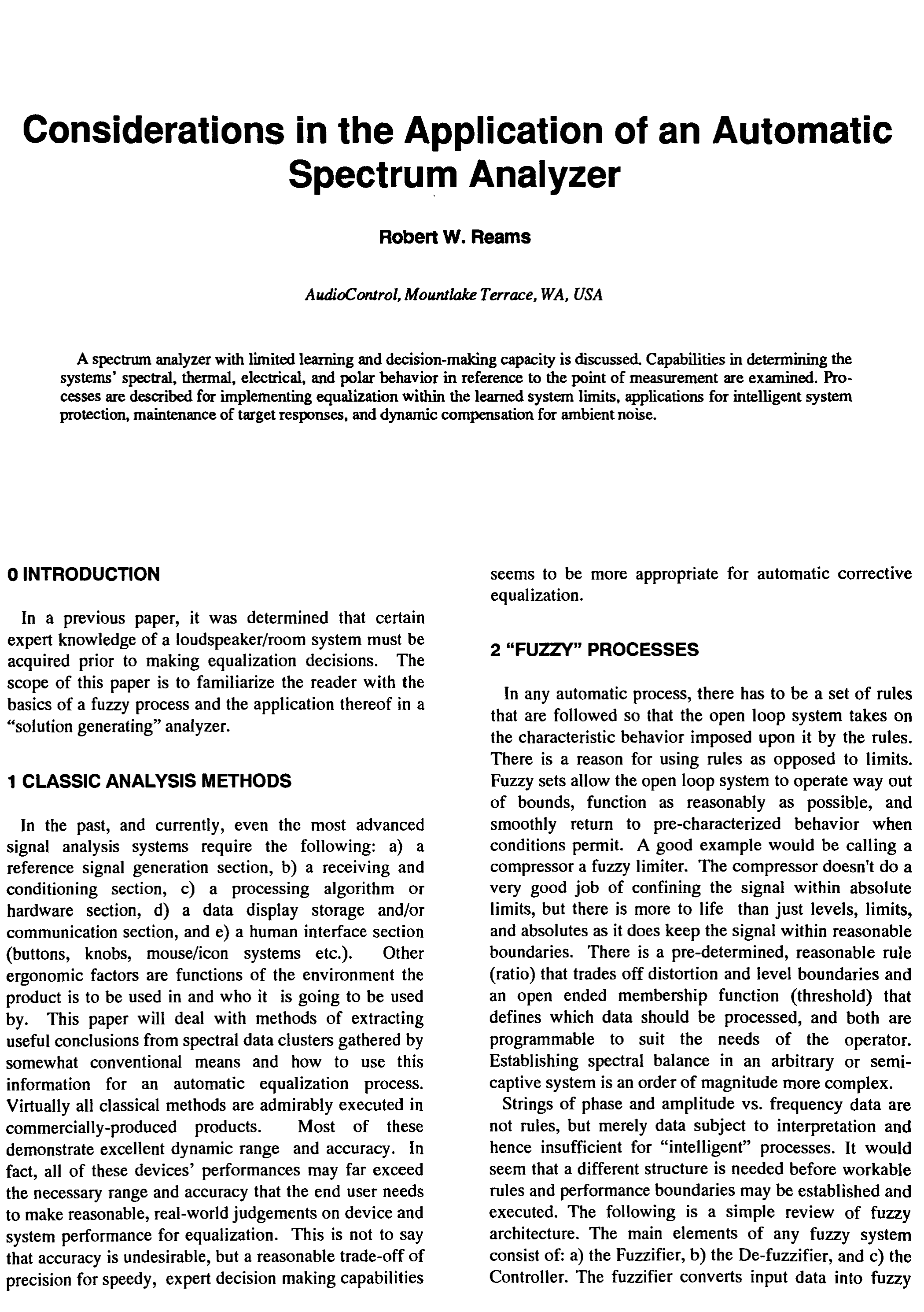 AES E-Library » Considerations in the Application of an Automatic ...