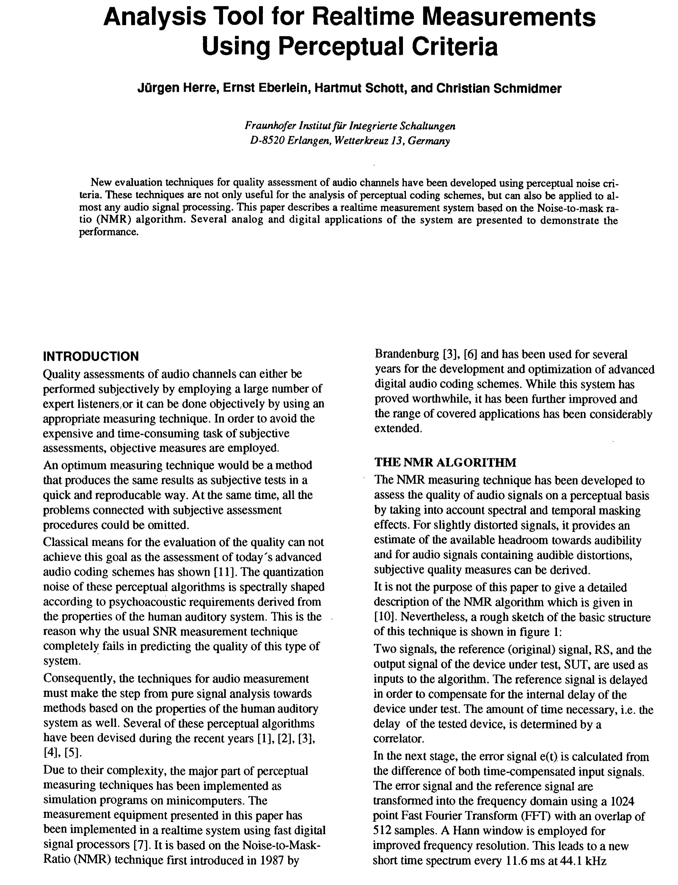 an analysis of perceptual errors