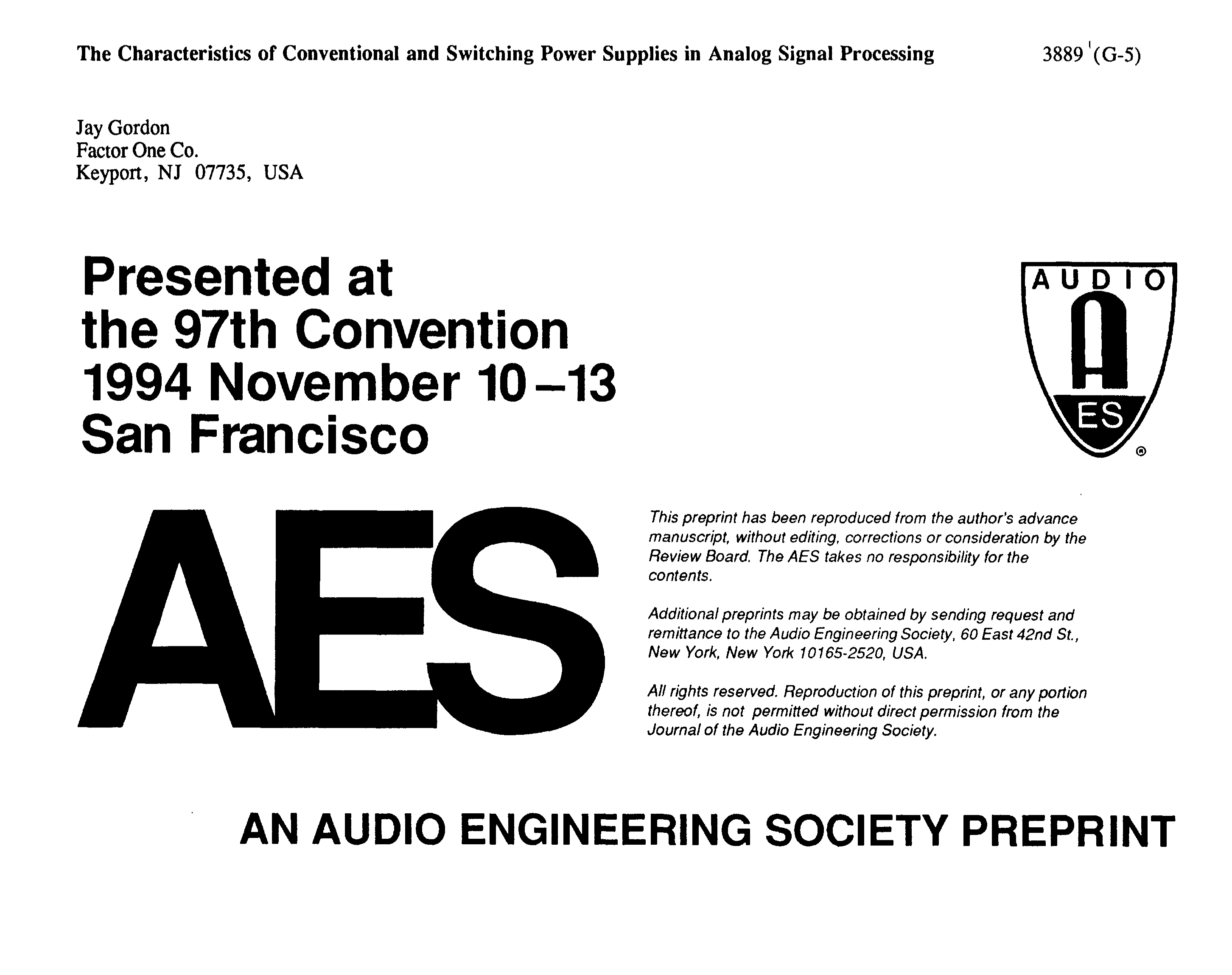 Aes E Library The Characteristics Of Conventional And Switching Figure 48 Ttl Inverter Circuit Power Supplies In Analog Signal Processing