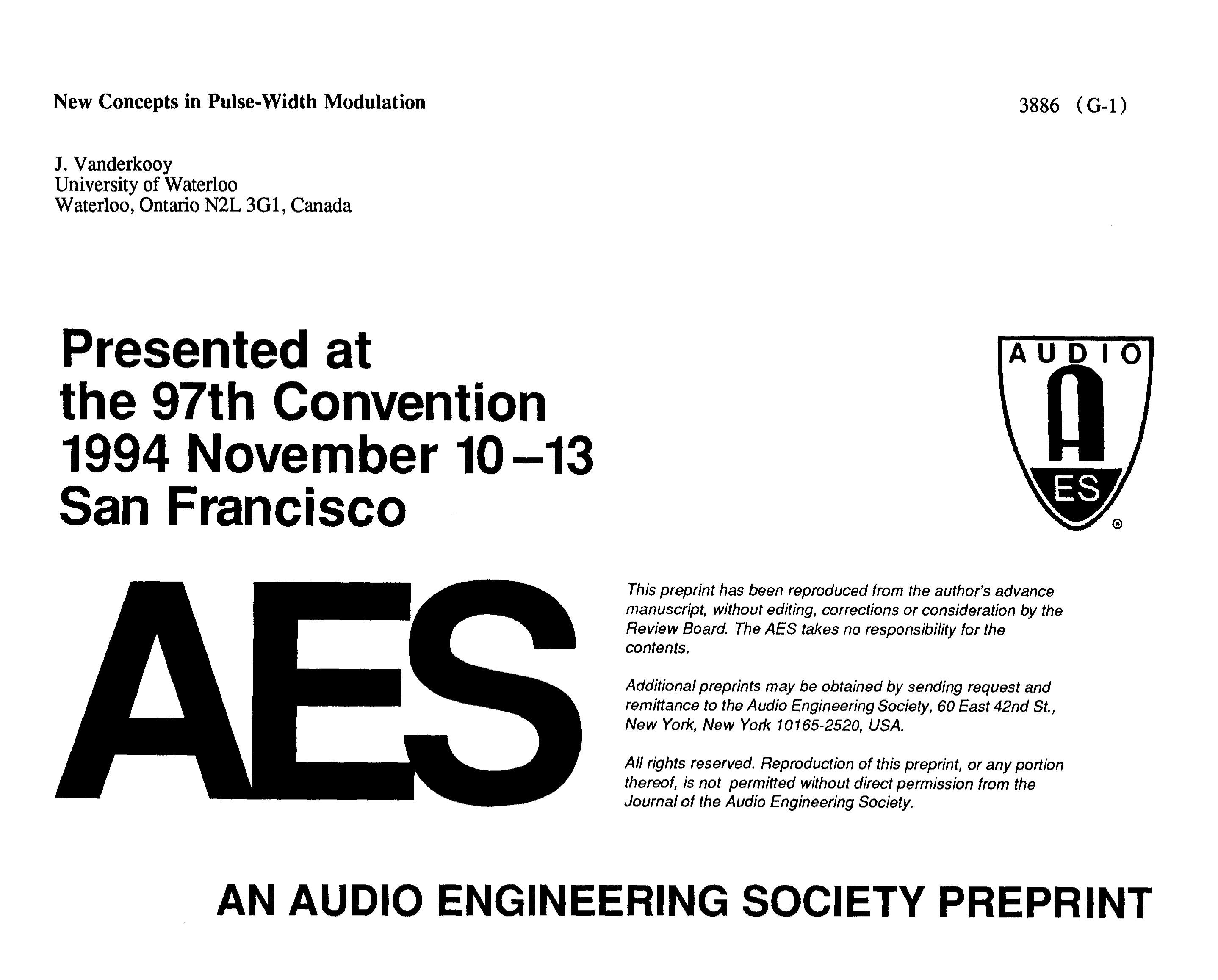 Aes E Library New Concepts In Pulse Width Modulation Threelevel Audio Power Indicator Electronics Circuits For You