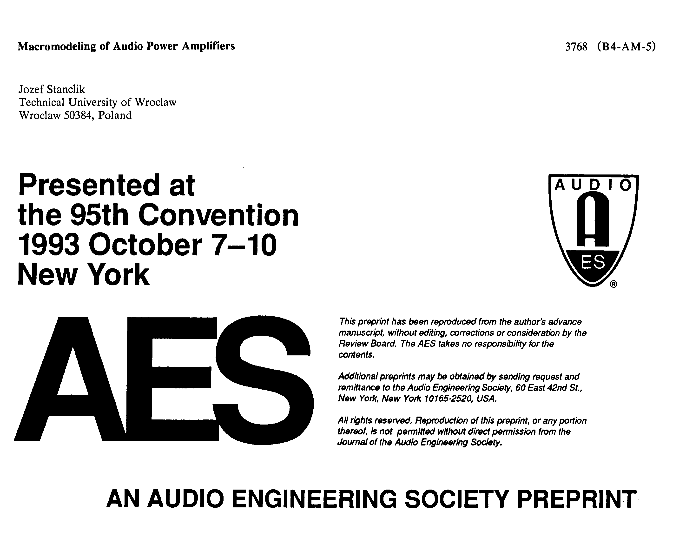 Aes E Library Macromodeling Of Audio Power Amplifiers Unregulated Psu For High End Amps All About Wiring Diagram