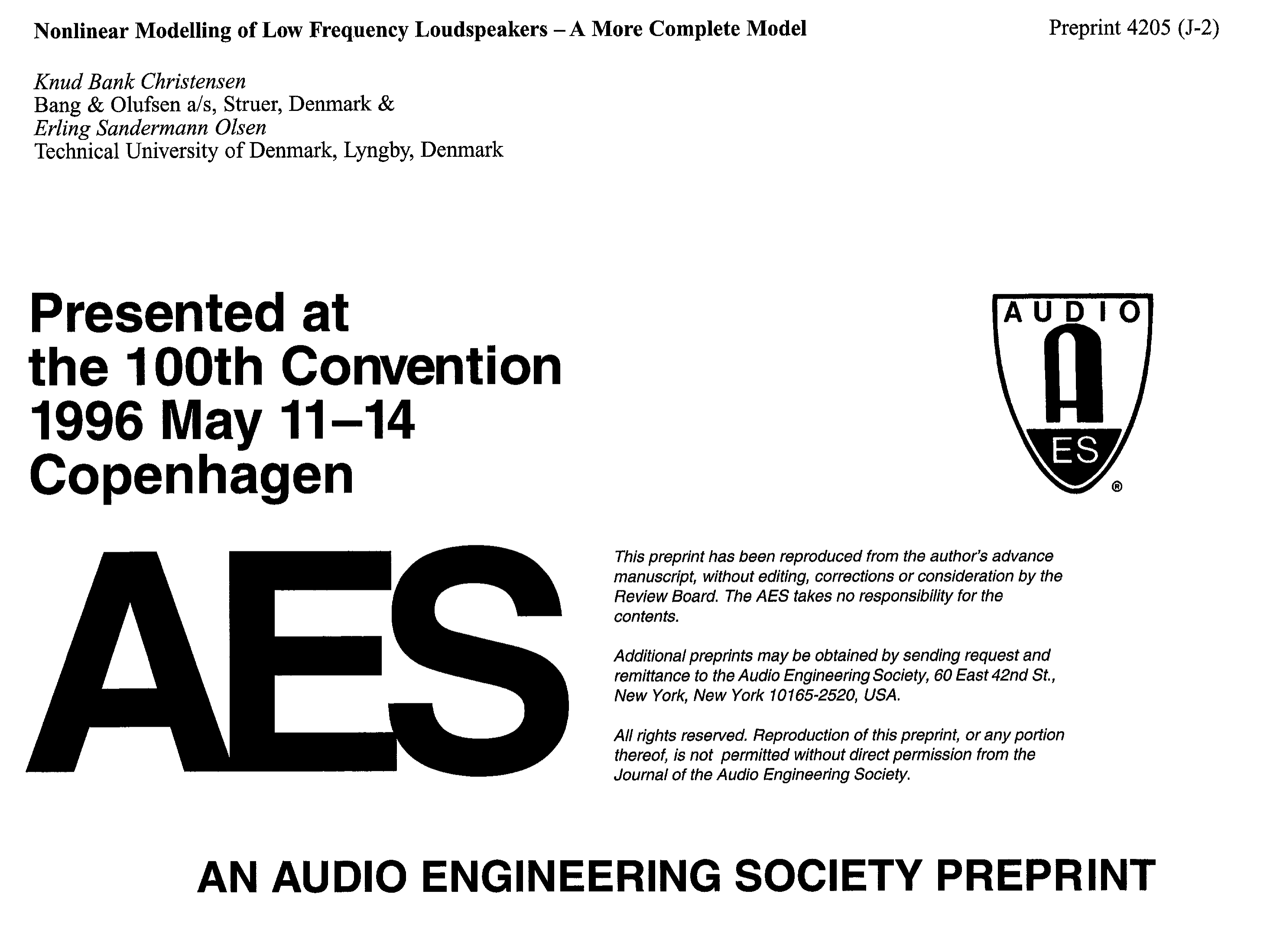 Aes E Library Nonlinear Modeling Of Low Frequency Loudspeakers A Subwoofer Filter Crossover 11 90 Hz Circuit Free Picture More Complete Model
