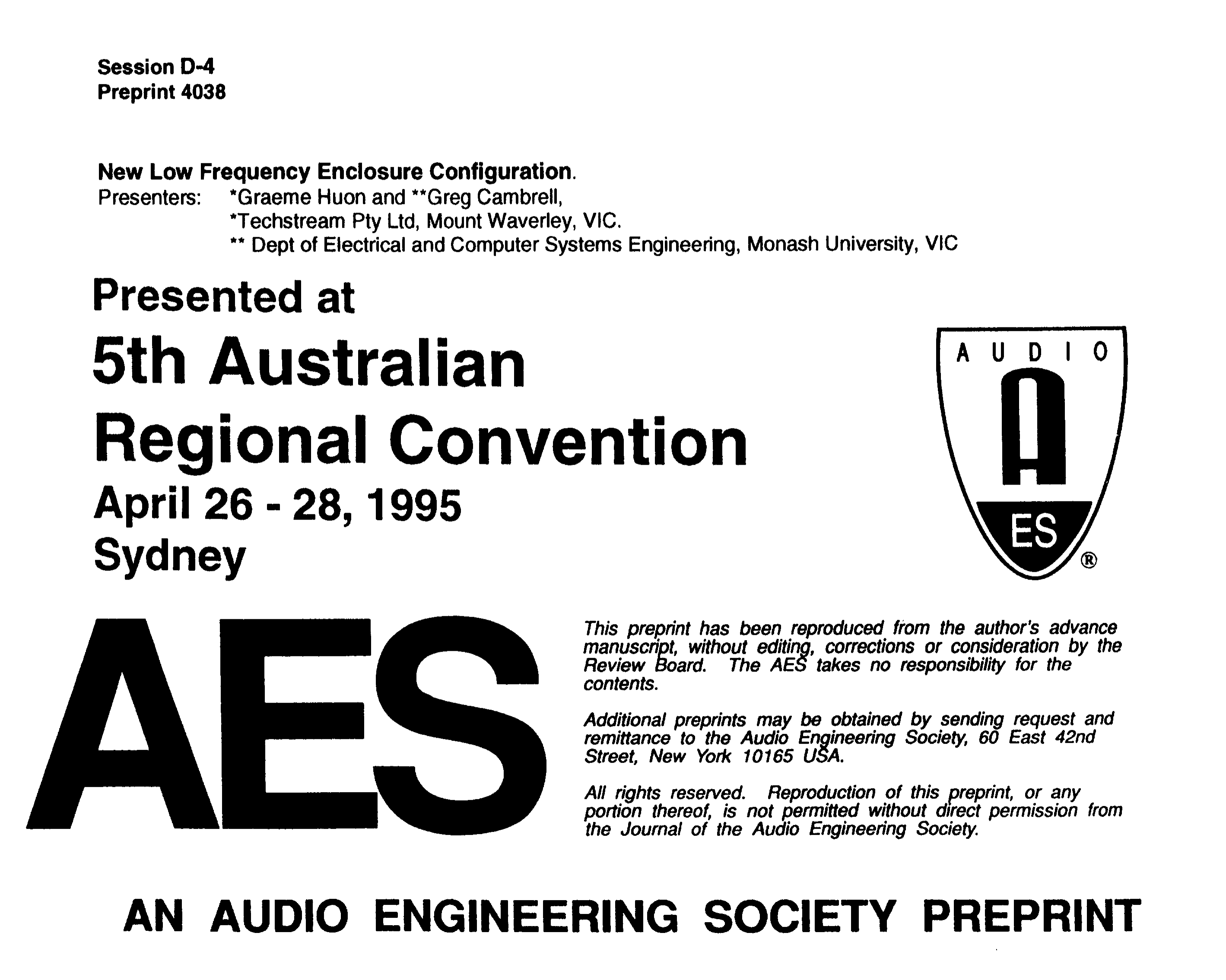Aes E Library New Low Frequency Enclosure Configuration Synthetic Inductor Based High Pass Audio Filter Circuit Design