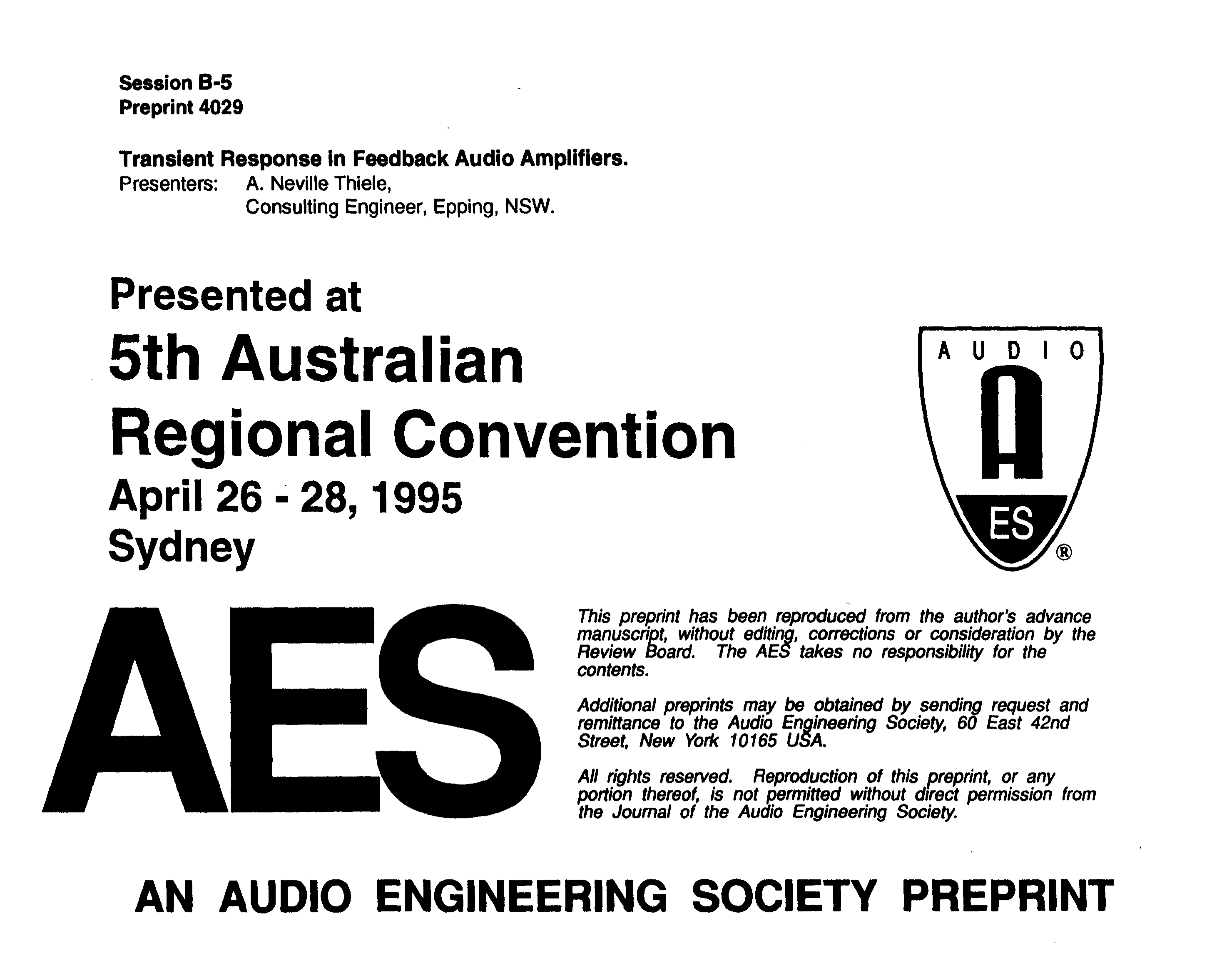 Aes E Library Transient Response In Feedback Audio Amplifiers Fig 103 Fm Radio Using Af If And Rf